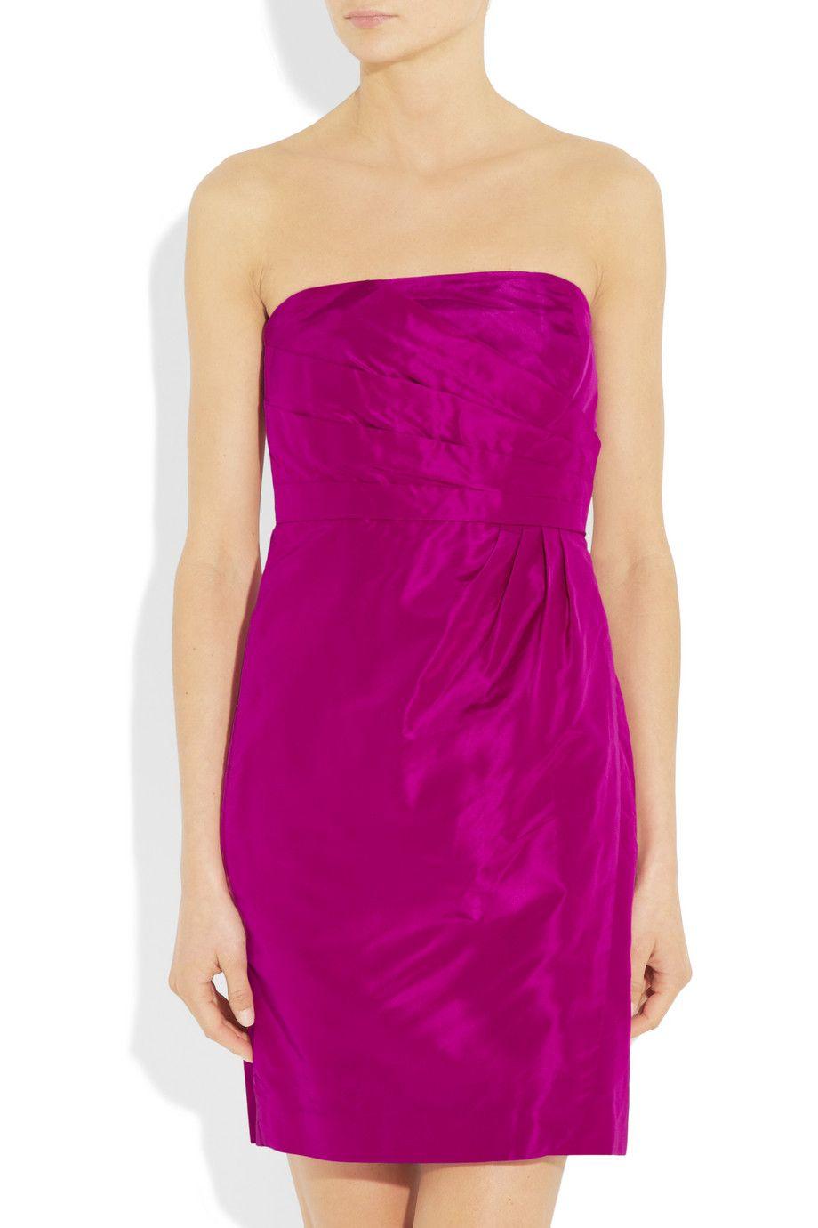 J.Crew | Selma strapless silk-taffeta dress | NET-A-PORTER.COM | I ...