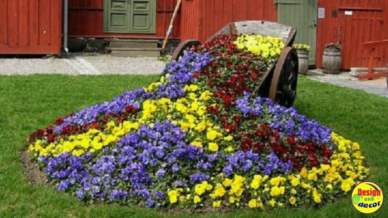 Most beautiful flower beds Design and Decor. YouTube in