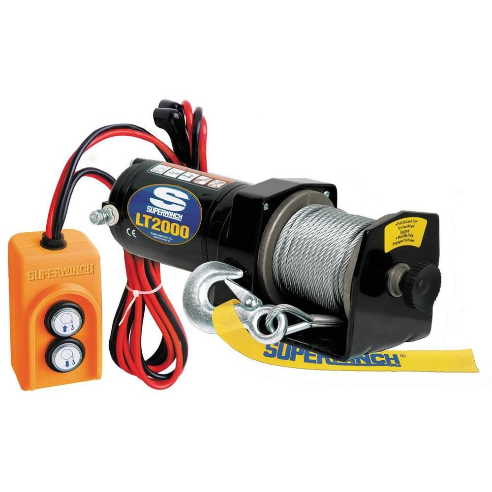 Superwinch LT2000 12-Volt DC Utility Winch with Free