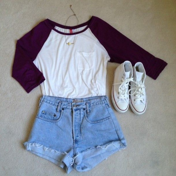 Shirt Shorts Denim Cute Converse Fashiom Fashion Vintage