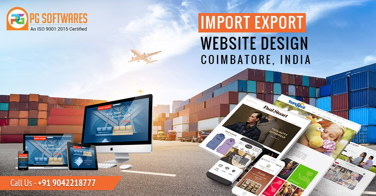 Import Export Website Design Company In Coimbatore In 2020 Website Design Company Website Design Mobile Web Design
