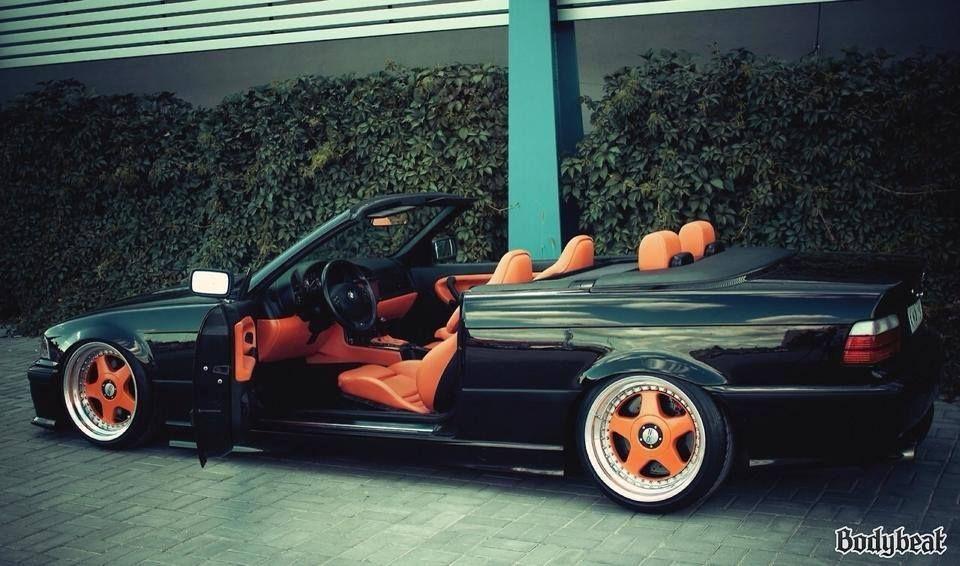 Bmw E36 3 Series Cabrio Black And Orange Bmw Bmw Cars Bmw E30