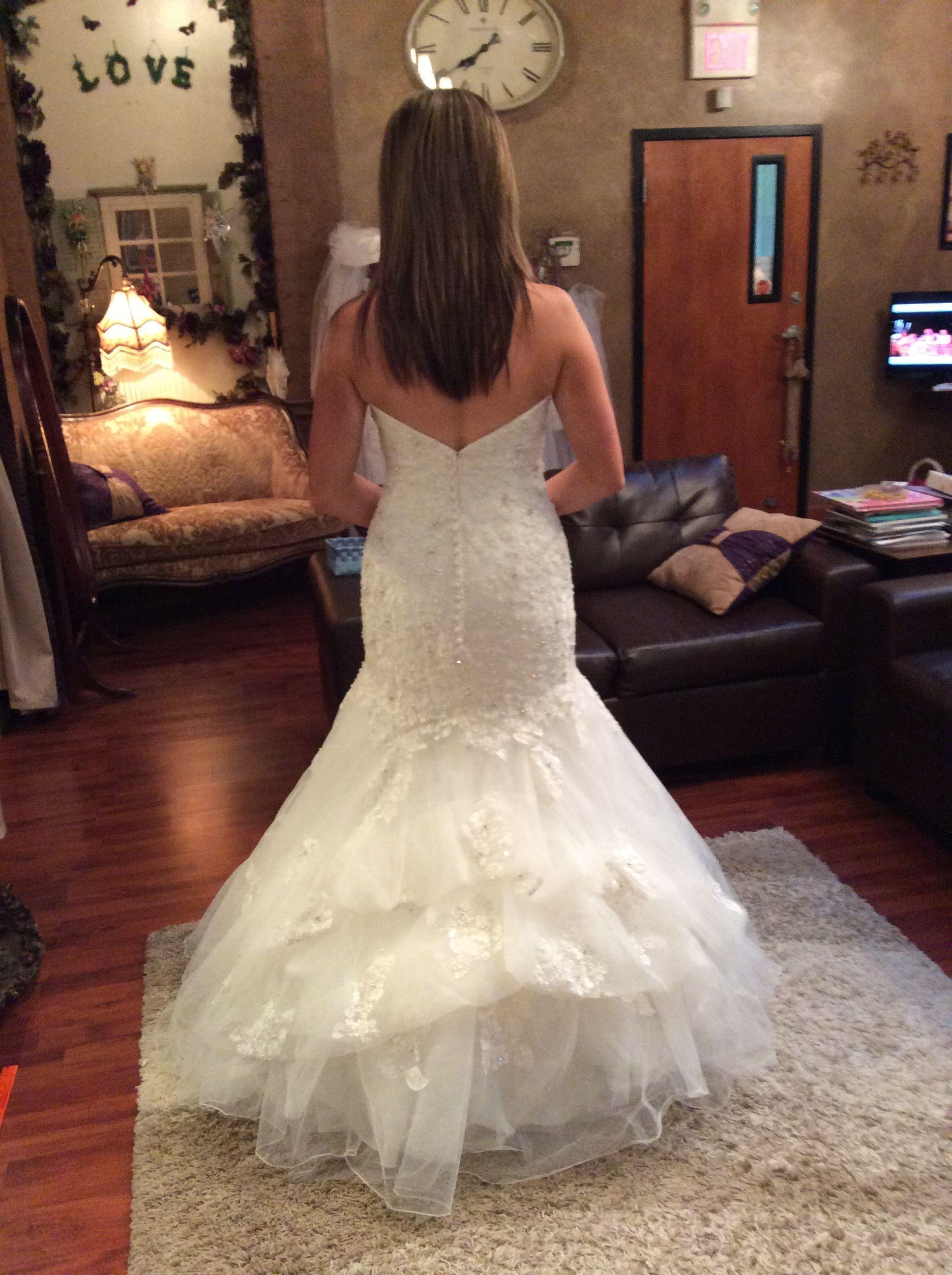 Waterfall bustle  Wedding Dress  Pinterest  Bustle Wedding dress