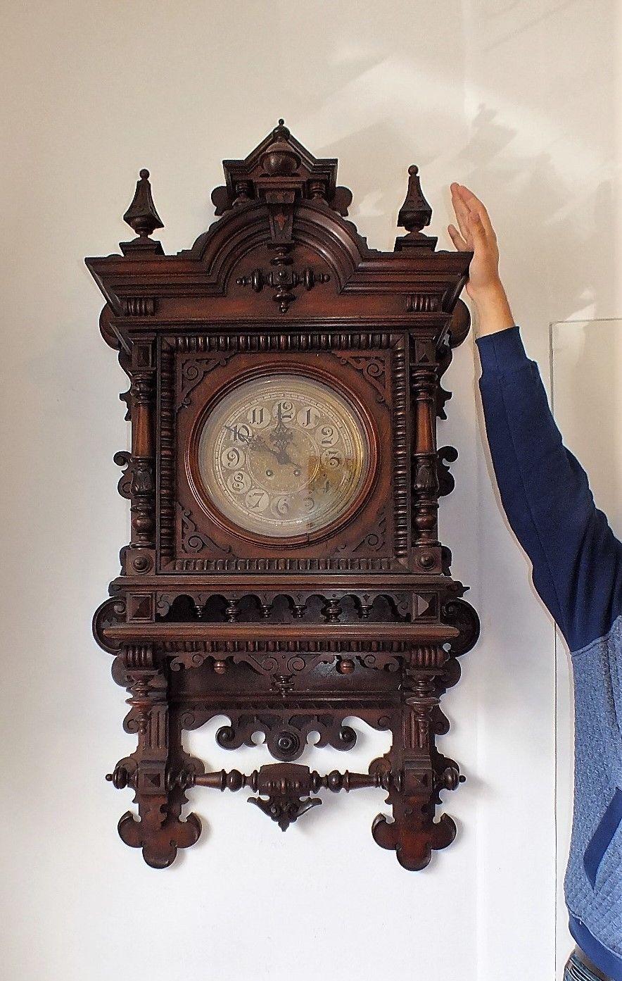 135cm H X 70cm B Gegantische Lenzkirch Gutsherrenuhr Wanduhr Regulator Aus 1895 Ebay Wanduhr Antike Uhren Uhren Herren