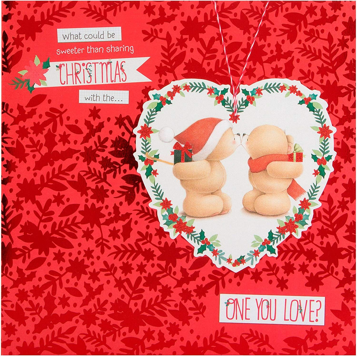 Hallmark Forever Friends Christmas Card to The One I Love