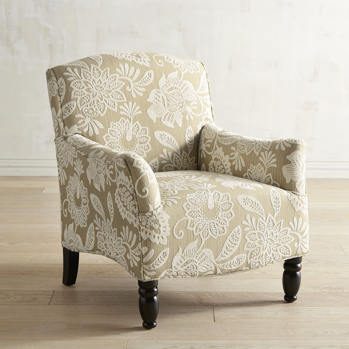 Frankie Tan Chenille Floral Chair | Pier 1 Imports | First Place ...
