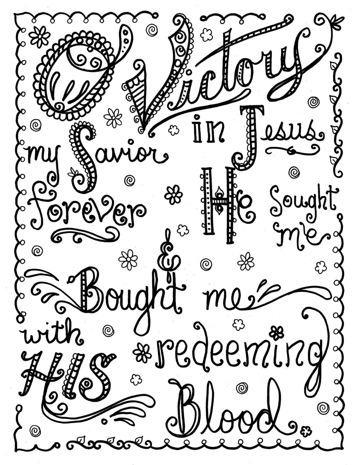 Hymn-spiration 2 Coloring pages you be the Artist