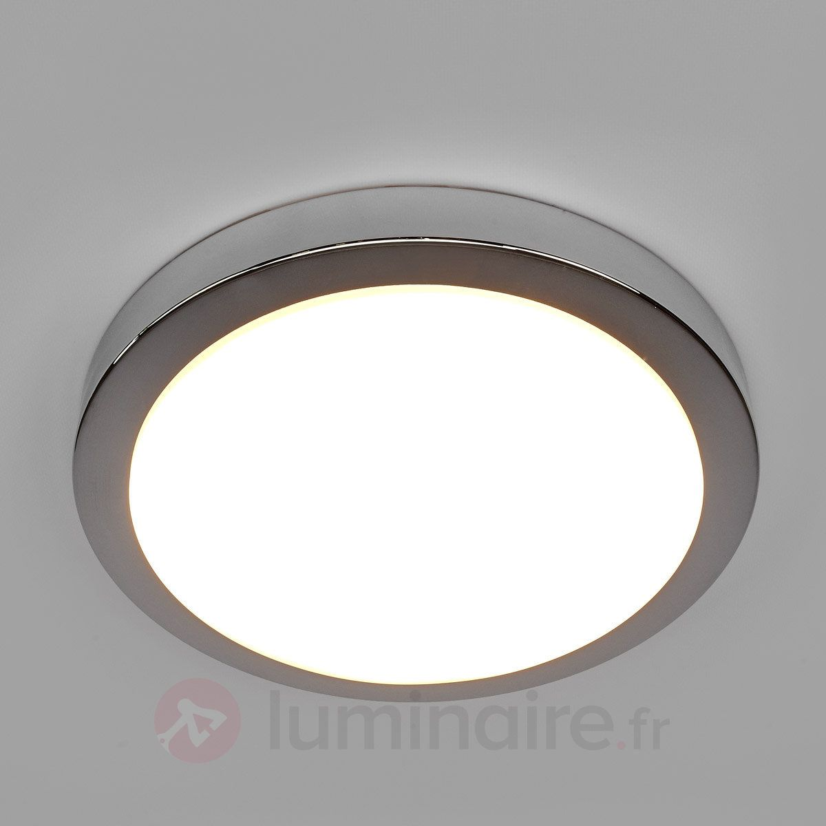 Plafonnier LED Aras chromé brillant IP44