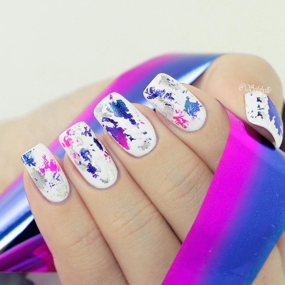 Gradient starry foil nailsticker, looks so cool, do you