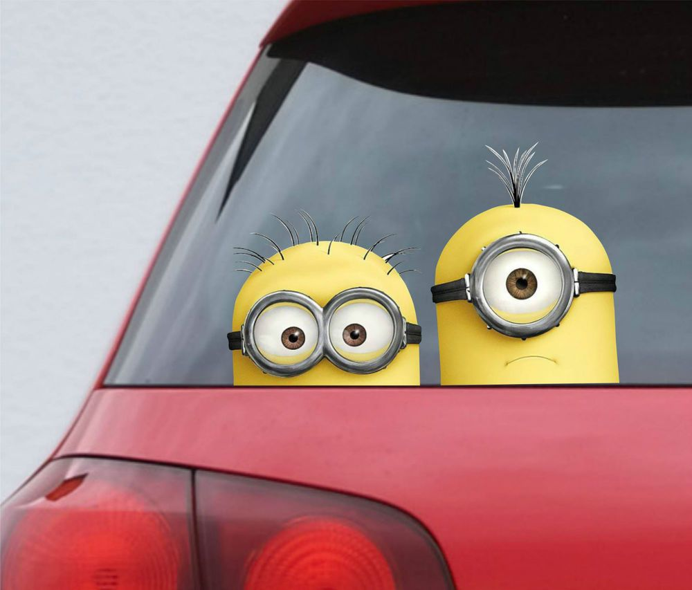 Minion Car Stickers Minions Minion Minios [ 853 x 1000 Pixel ]