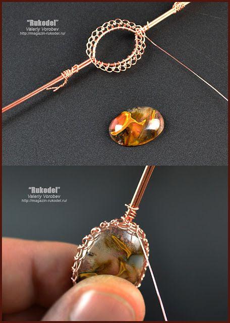 Photo of Handmade wire jewelry. Wire wrap tutorial (44)