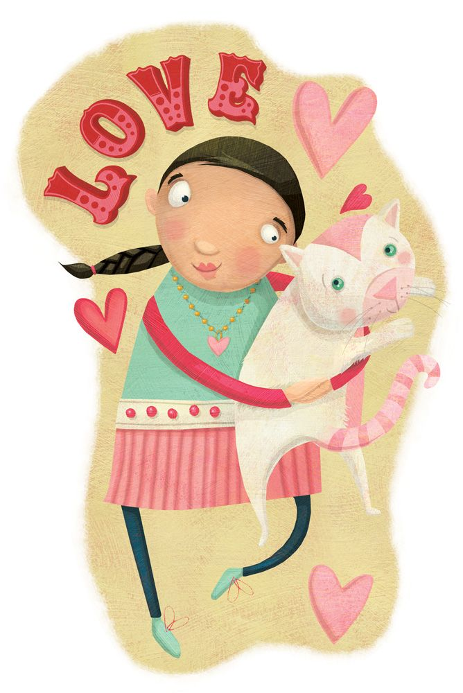 Happy Lovey Valentine's Day!  Laura Watson Illustration more at www.w-illo.com