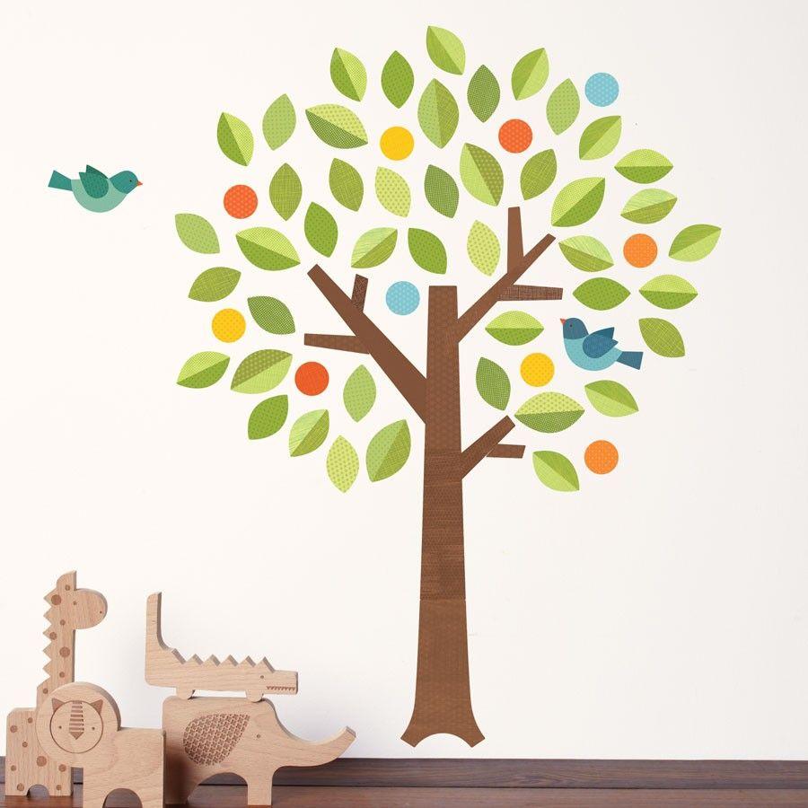 Polka Dot Tree fabric wall decal