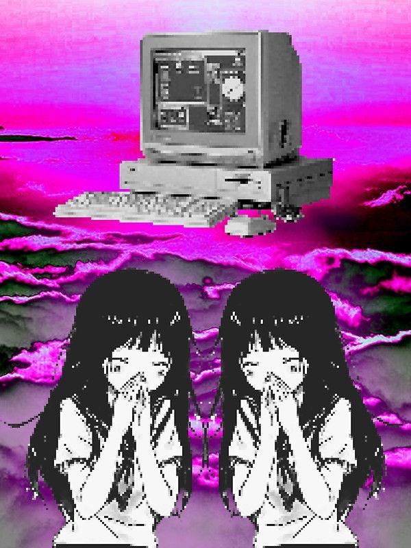 'Commodore Amiga // Anime Vaporwave 2012' Sticker by ...