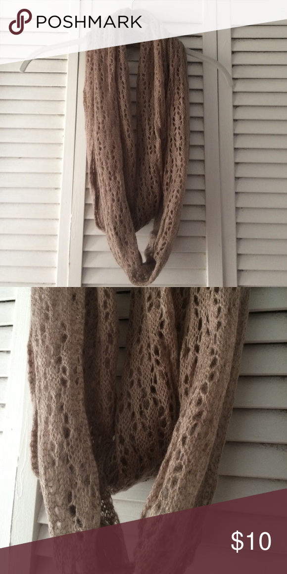 Taupe knit infinity scarf Forever 21 infinity scarf Forever 21 Accessories Scarves & Wraps