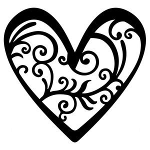 fancy flourish heart sophie gallo design silhouette store
