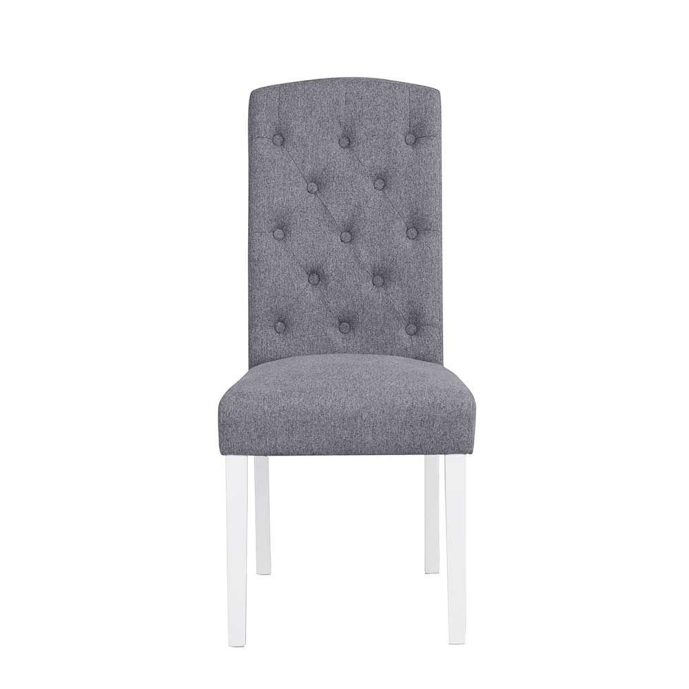 Faszinierend Esszimmerstühle Grau Stoff Beste Wahl Esszimmerstuhl In Weiß Buche Massiv (2er Set)