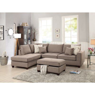 Hong Dorris Right Hand Facing Sectional With Ottoman