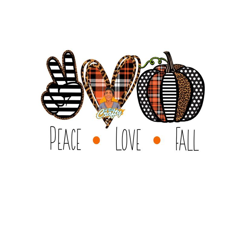 Download Peace Love Fall Pumpkin svg jpeg png sublimation digital ...