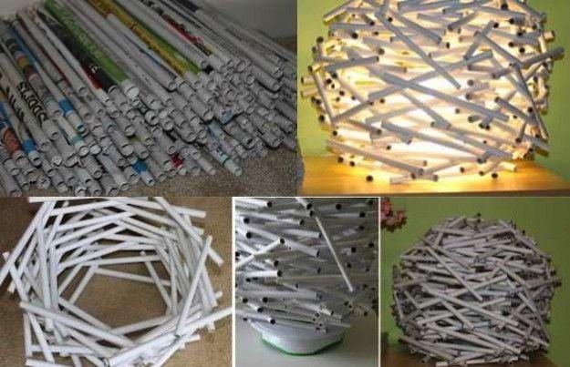 Lampadari Di Carta On Line : Lampadario fai da te come fare lampadari