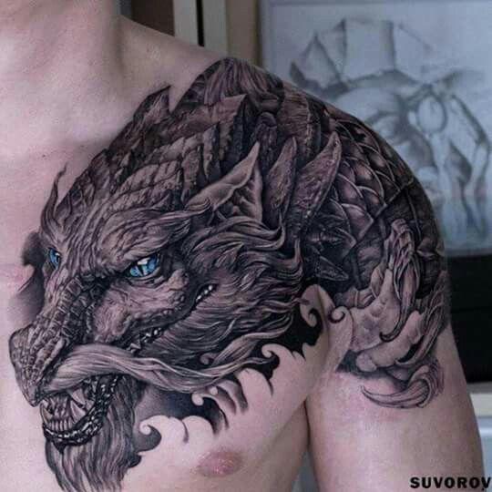Dragon Tatoo Tatts Dragon Tattoo Shoulder Tattoos For