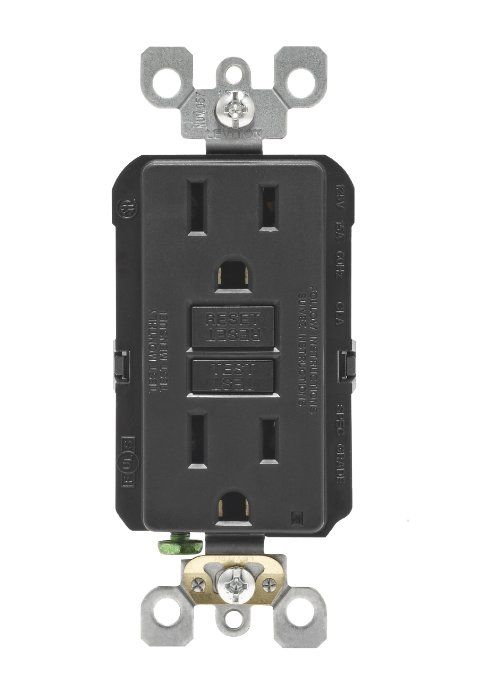 Amazon Leviton N7599 E 15 Amp 125 Volt Smartlock Pro Slim Gfci Receptacle Black 11 28 Save 27 Leviton Homeimprovement Gfci Led Indicator Receptacles