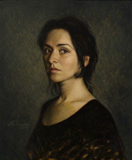 Woman in Black   Paintings.   Pinterest   Woman portrait ...