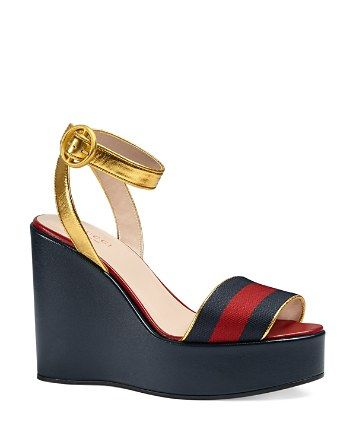 3ad90954d Gucci Becky Platform Wedge Sandals | Bloomingdale's | Shoes ...