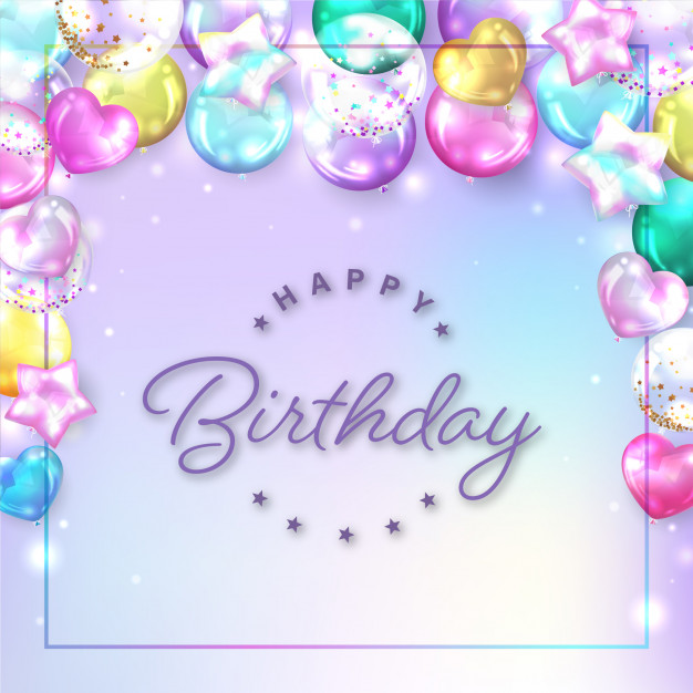 Download Square Colorful Balloons Background For Birthday Card For Free In 2021 Happy Birthday Cards Happy Birthday Greeting Card Happy Birthday Art