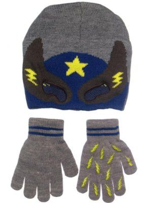 d7127ccbb17 Toddler Boys Knit Super Hero Mask Winter Hat and Glove Set by OshKosh -  Gray - 4-7