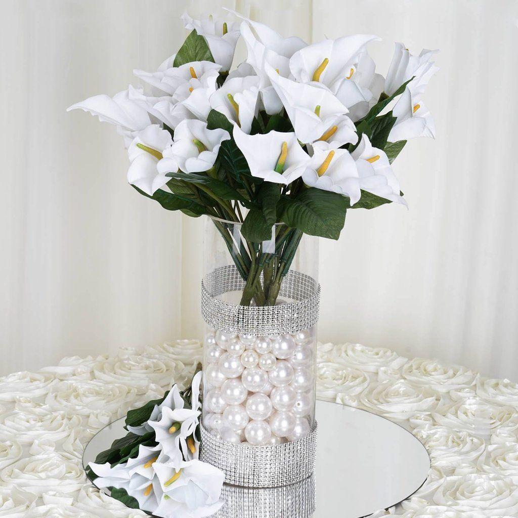 13 Artificial Calla Lily Wedding Flower Bouquet Centerpiece Decor