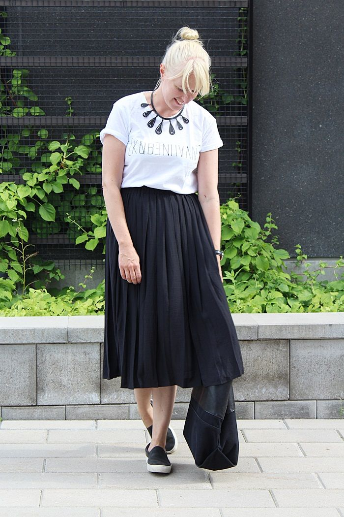 Midi skirt outfit summer