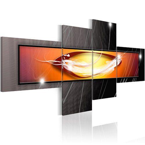 Photo of 4-tlg. Leinwandbilder-Set Geschichte der Milchstraße Ebern Designs Größe: 45 cm H x 100 cm B
