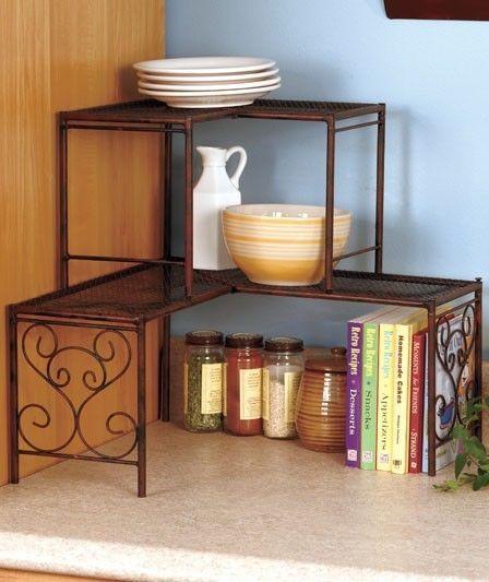 Bronze 2 Tier Corner Kitchen Storage Shelf Organization Or Sink Storage Shelf Shelves Bronze Kitchen Decor