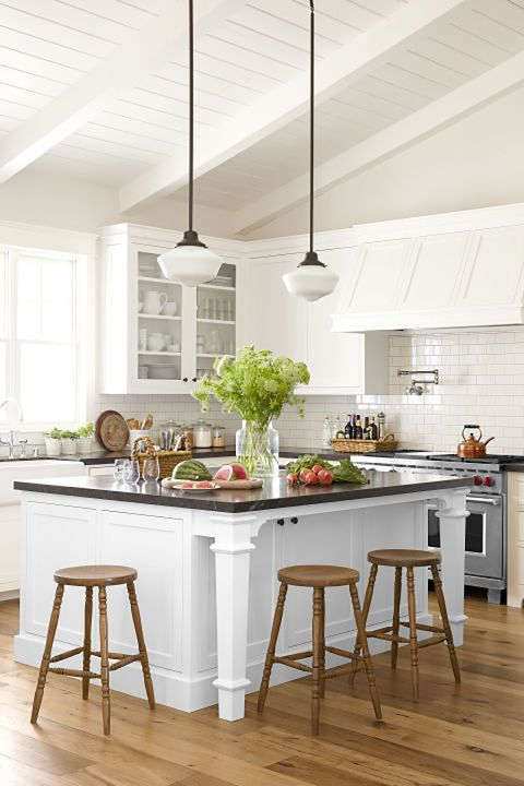 16 Simple Lovely Ideas For White Rooms Kitchen Island Decor Painted Kitchen Cabinets Colors White Kitchen Cabinets