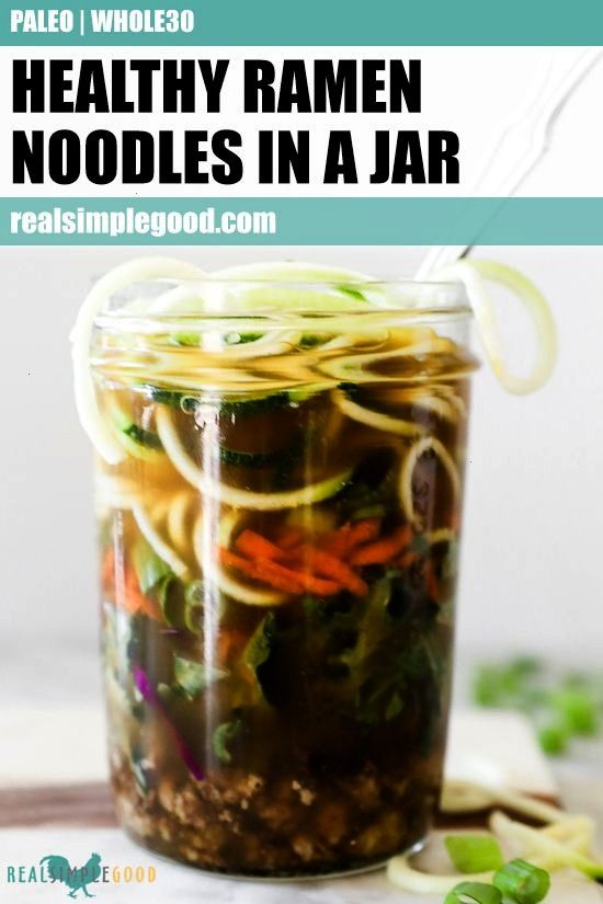 prep never tasted so good! This Paleo + Whole30 ramen noodles in a jar recipe is the perfect way to