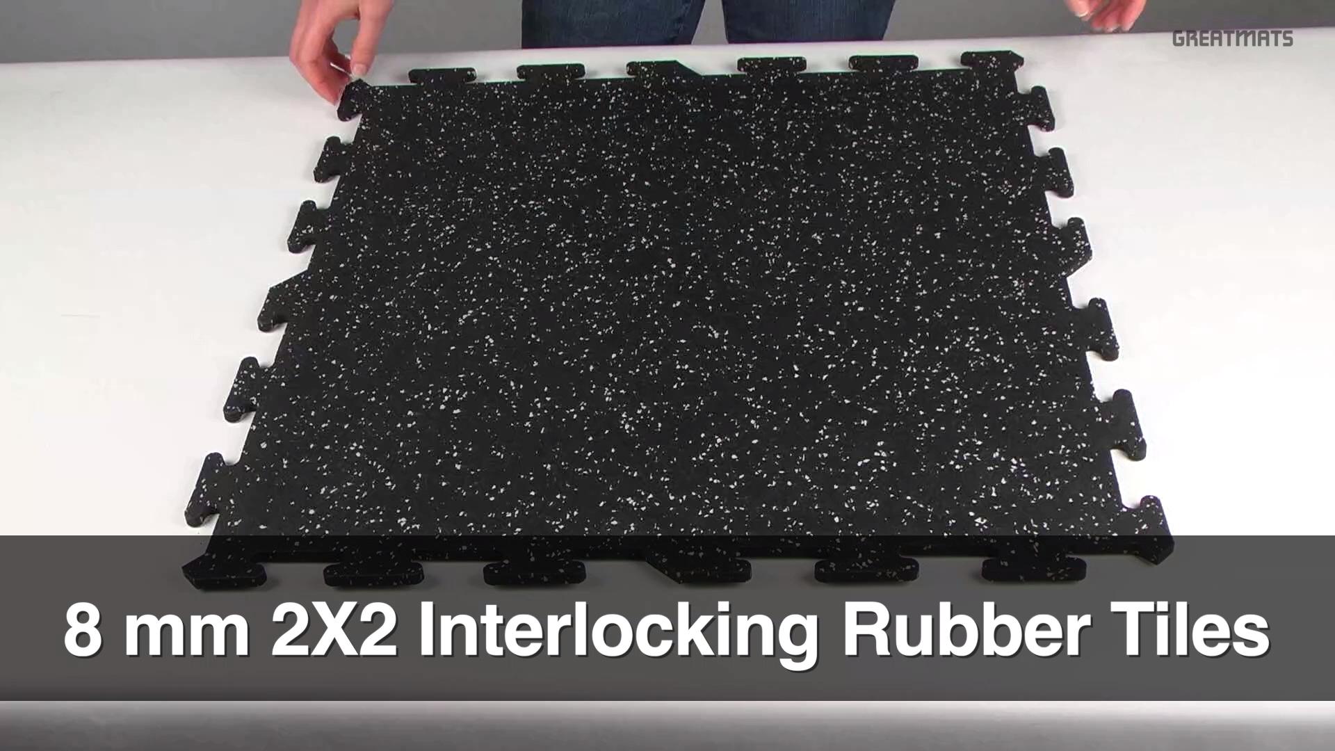 Interlocking Rubber Floor Tiles - 8mm - 2x2 -   19 fitness Room mall ideas