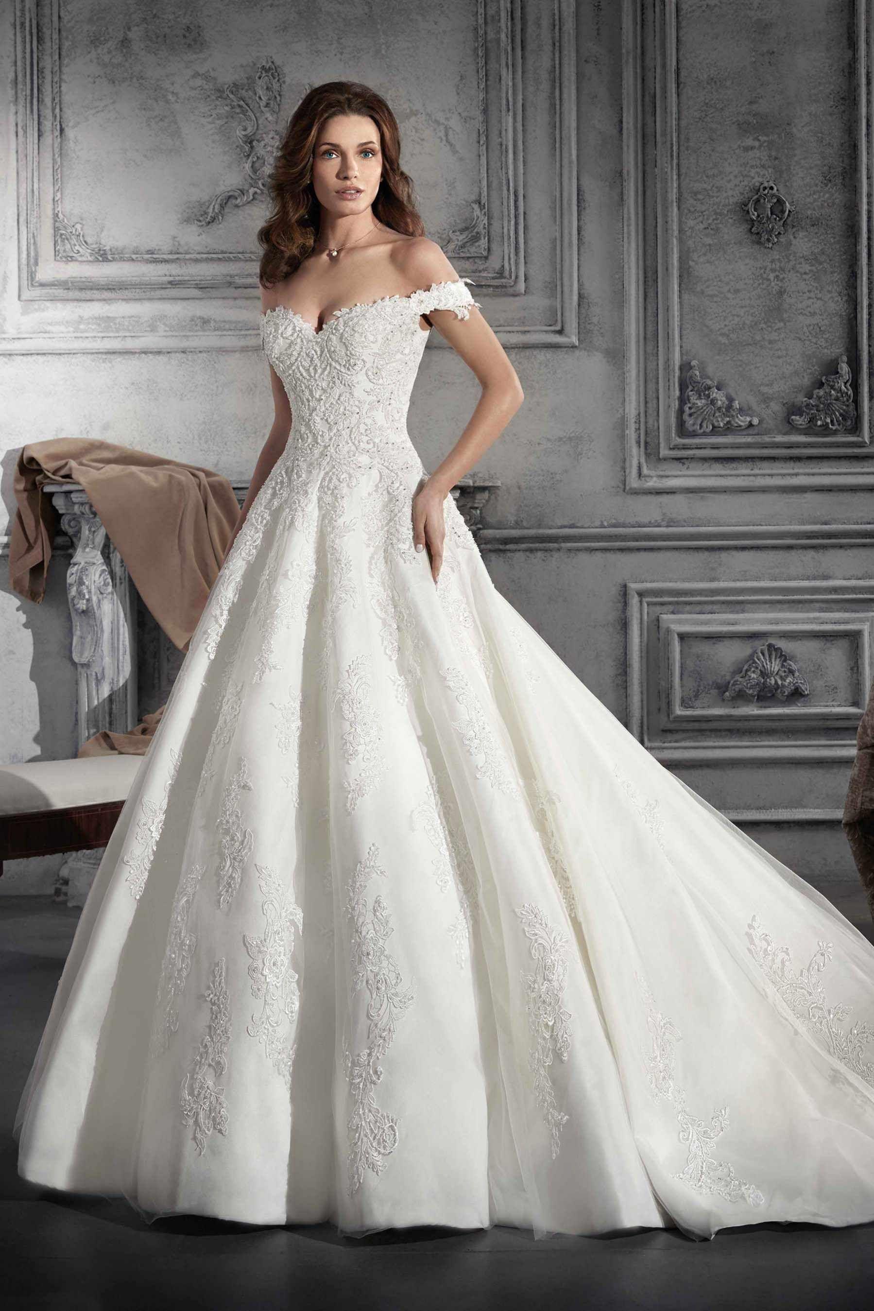 Demetrios wedding dress style for the grandest of romantic