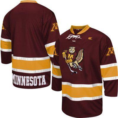 Minnesota Golden Gophers Face Off Hockey Jersey – Maroon  53c51f6c812