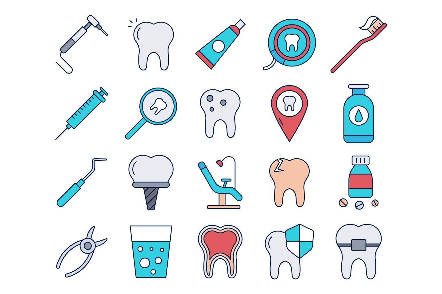 Dental Vector Free Icon Set in 2020 Free