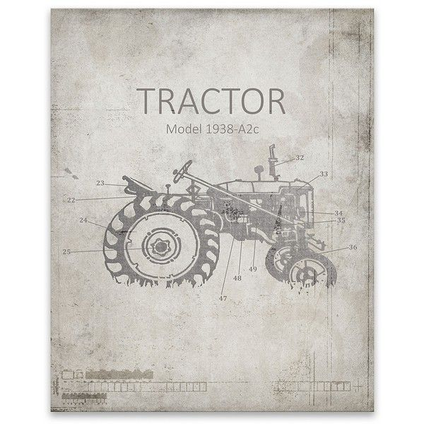Farm tractor blueprint canvas art print 40 liked on polyvore farm tractor blueprint canvas art print 40 liked on polyvore featuring home malvernweather Images