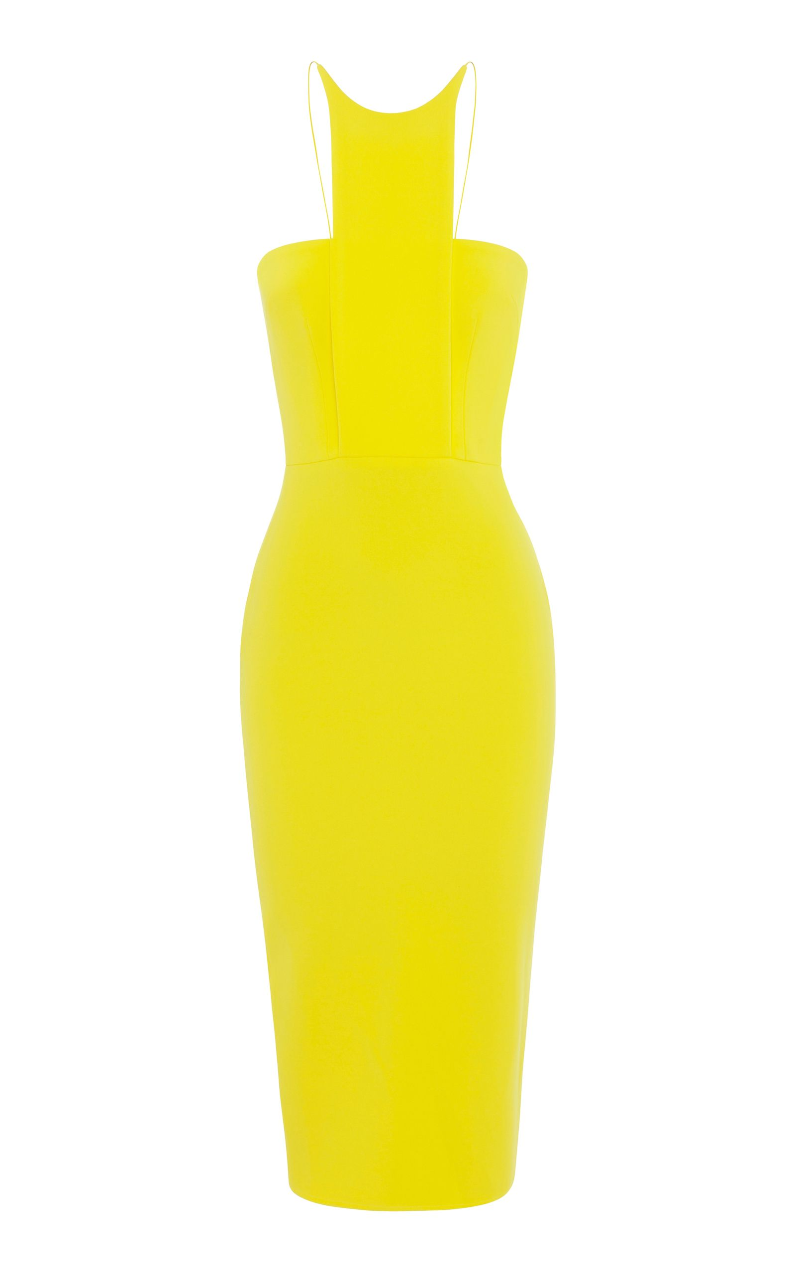 square neck fitted dress - Yellow & Orange Alex Perry 2018 New For Sale PPftliajj6