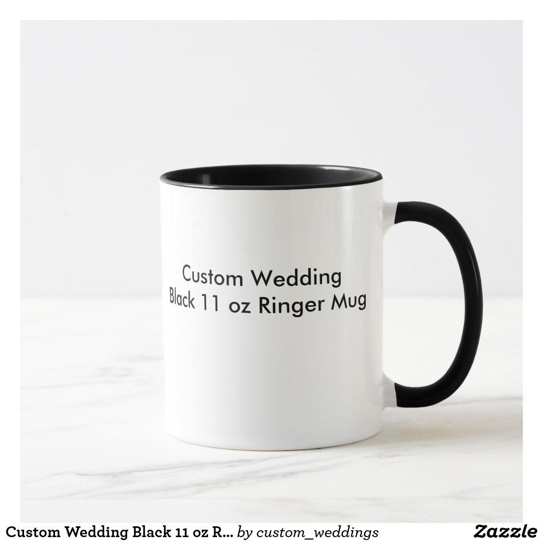 Custom Wedding Black 11 oz Ringer Mug | Wedding black, Wedding and Black