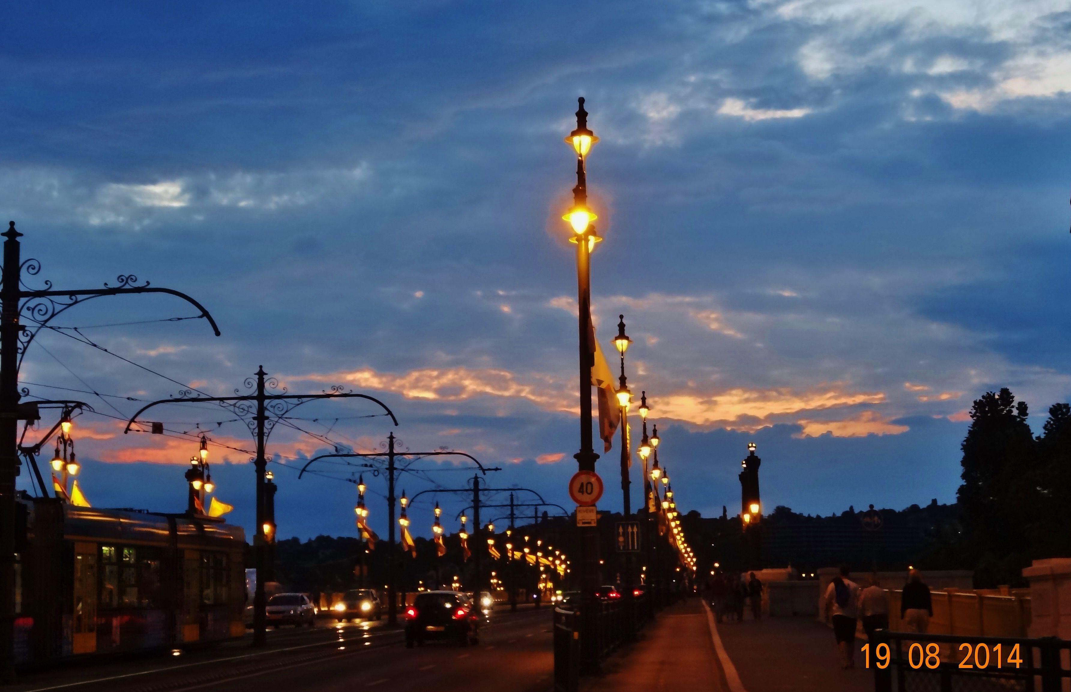 Bridge over Danube river Budapest