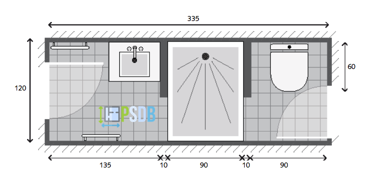 Exemple De Plan De Salle De Bain De 4m2 Plan Salle De Bain Salle De Bains Petit Espace Meuble Salle De Bain