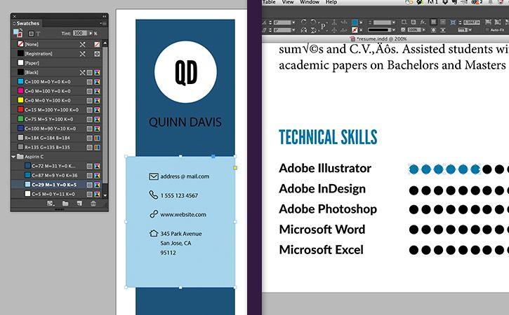 Resume Tutorial for Adobe InDesign Design ideas Pinterest - create a resume