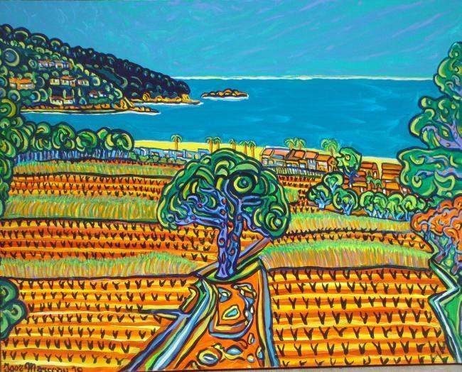 La Plage Du Kon Tiki A St Tropez C 2010 Igor Marceau Online Artworks Plage