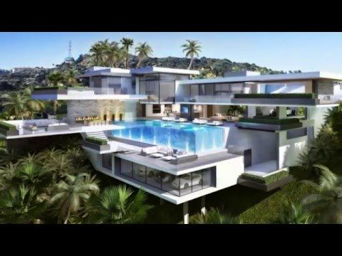 Two Modern Mansions on Sunset Plaza Drive in Los Angeles - YouTube