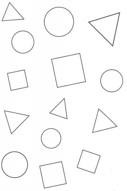 Dibujos De Las Figuras Geometricas Para Colorear Figuras
