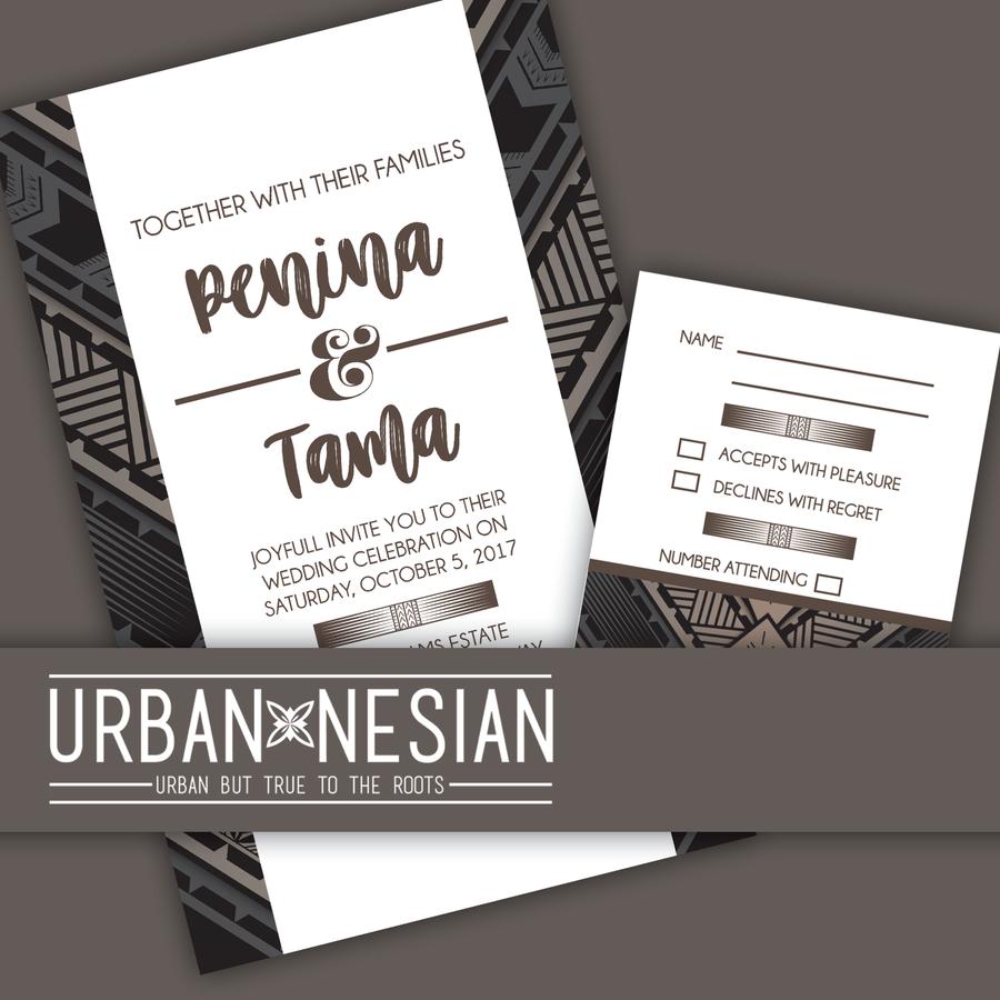 Tatau Wedding Invitation and RSVP Card Order wedding